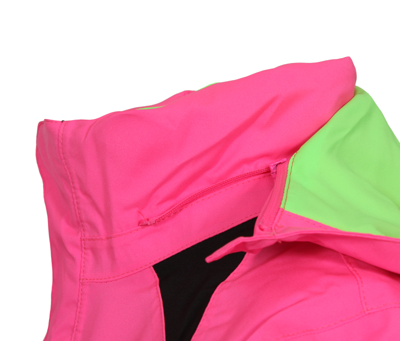 Kinder skijacken bergson mädchen skijacke maja neon pink