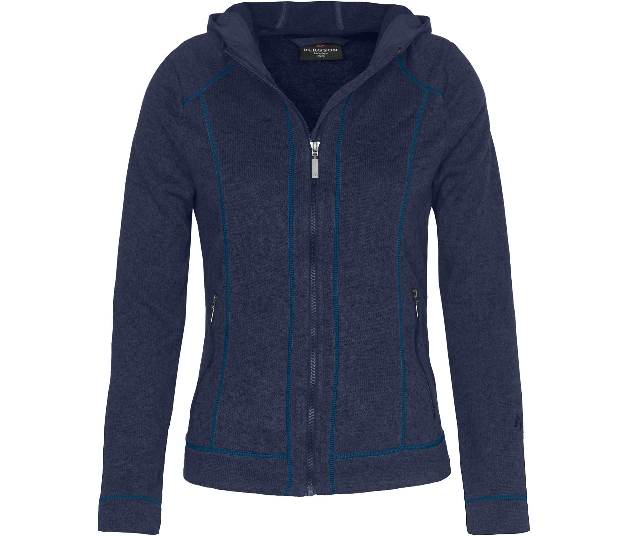 blaue fleece jacke damen
