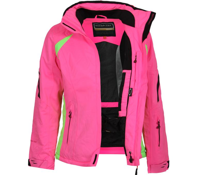 bergson damen skijacke snowtastic neon pink bergson. Black Bedroom Furniture Sets. Home Design Ideas