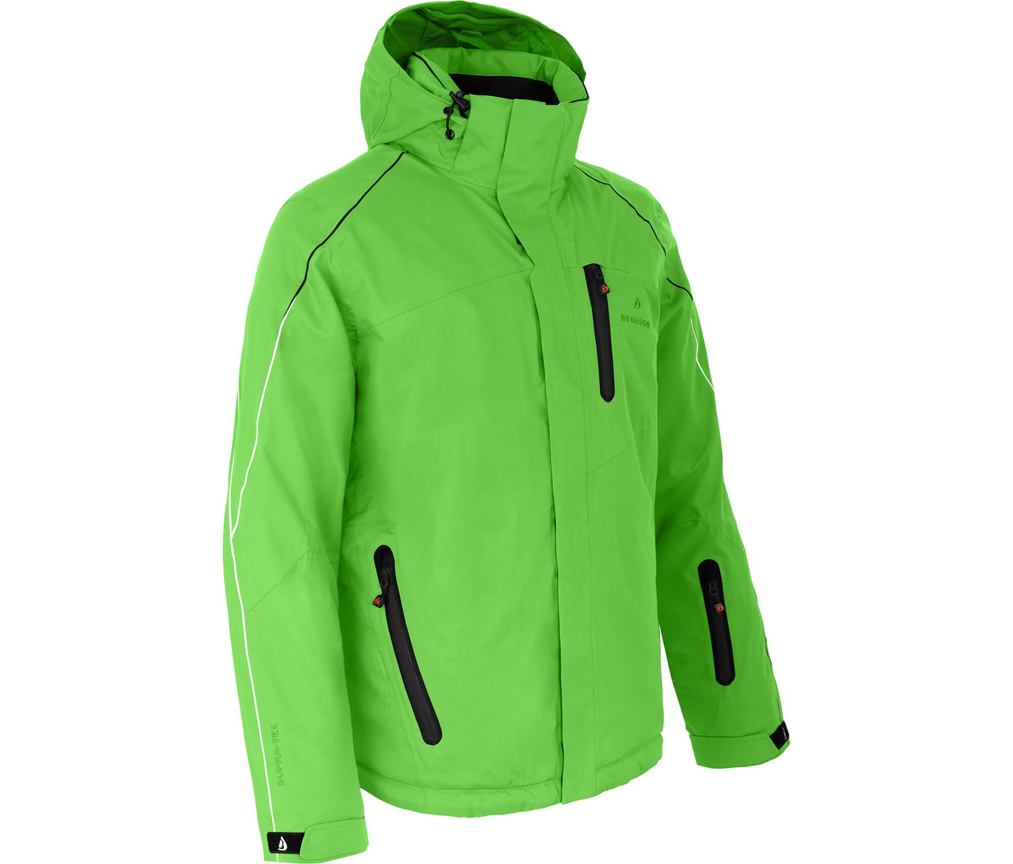 Bergson Herren Skijacke NOVA flash grün