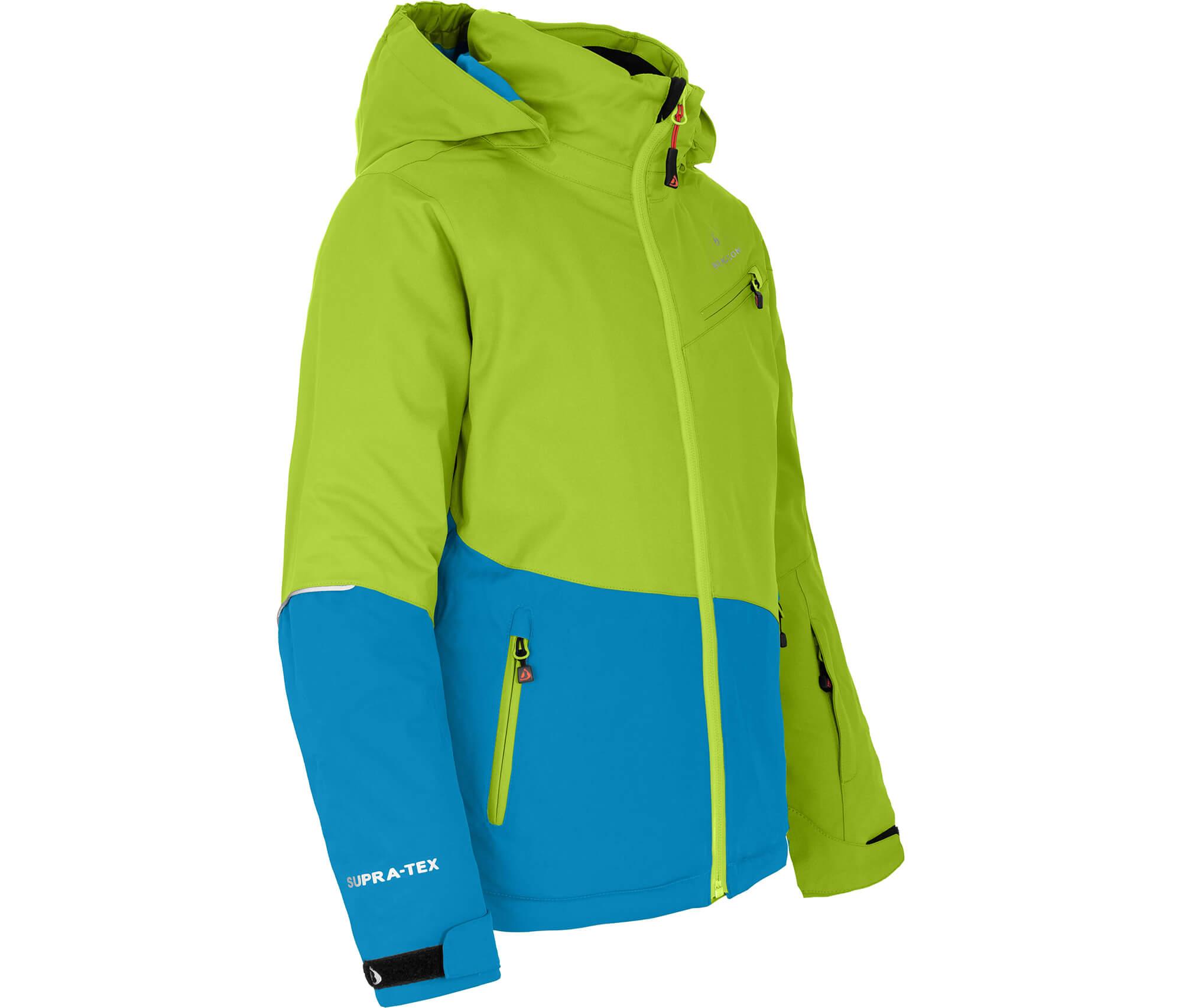 Bergson Kinder Skijacke LUNA lime grün