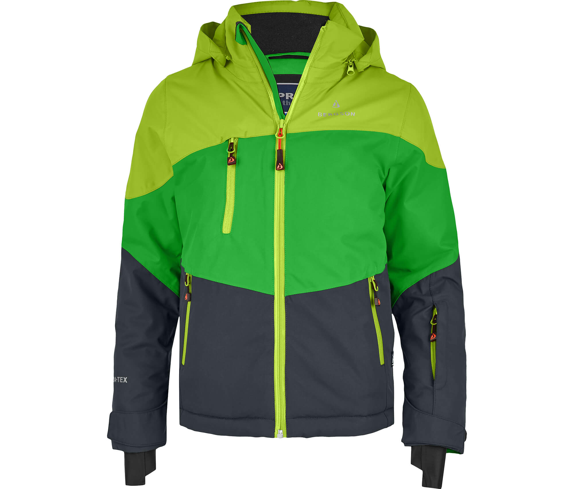 Bergson Kinder Skijacke VOLKER grün